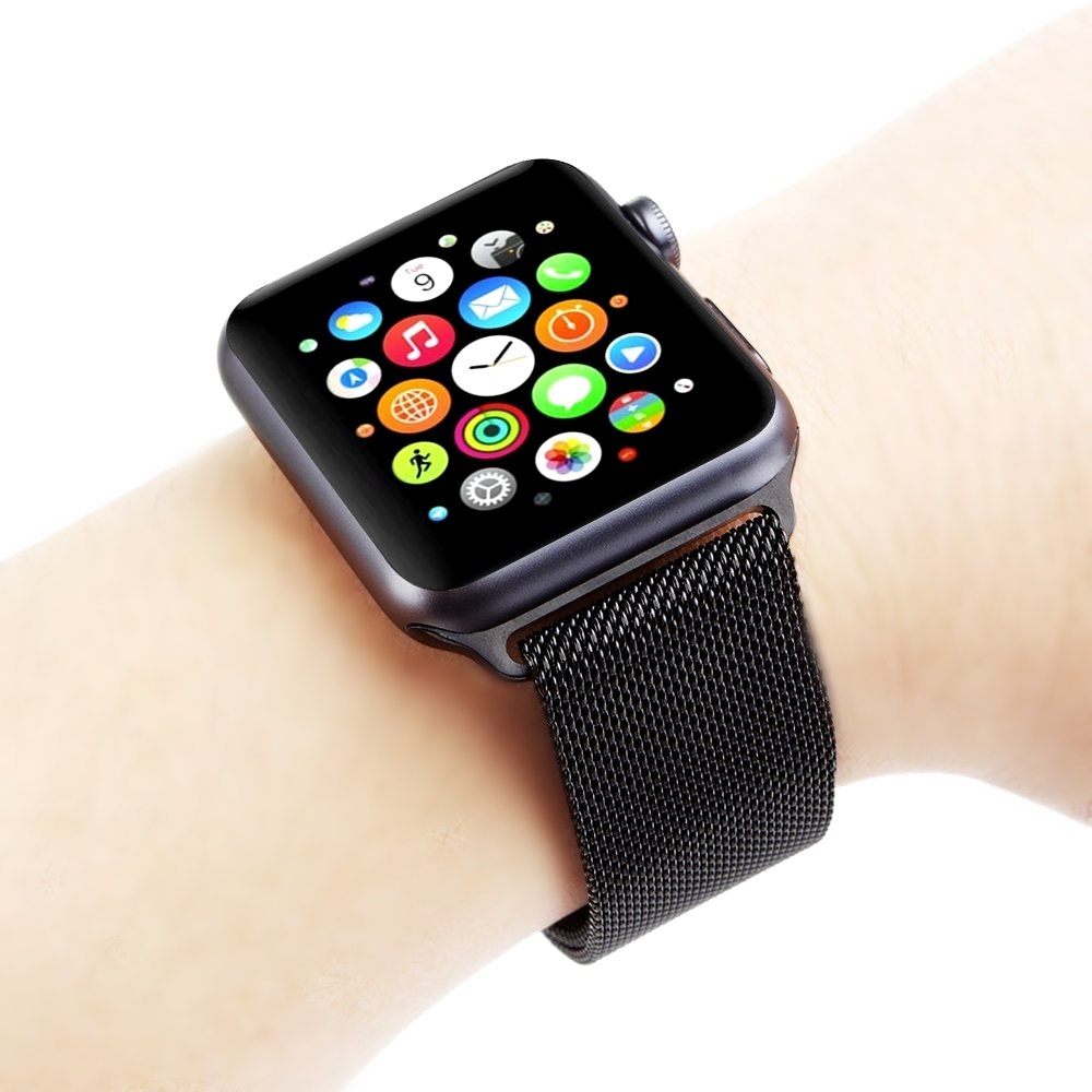 Teseo Nublado falda  Modern Black Stainless Steel Adjustable Milanese Mesh Band Strap Apple  iWatch 38mm 40mm 42mm 44mm Watch 5 4 3 2 1 Series Nike Hermes Edition –  NICKSTON All Rights Reserved