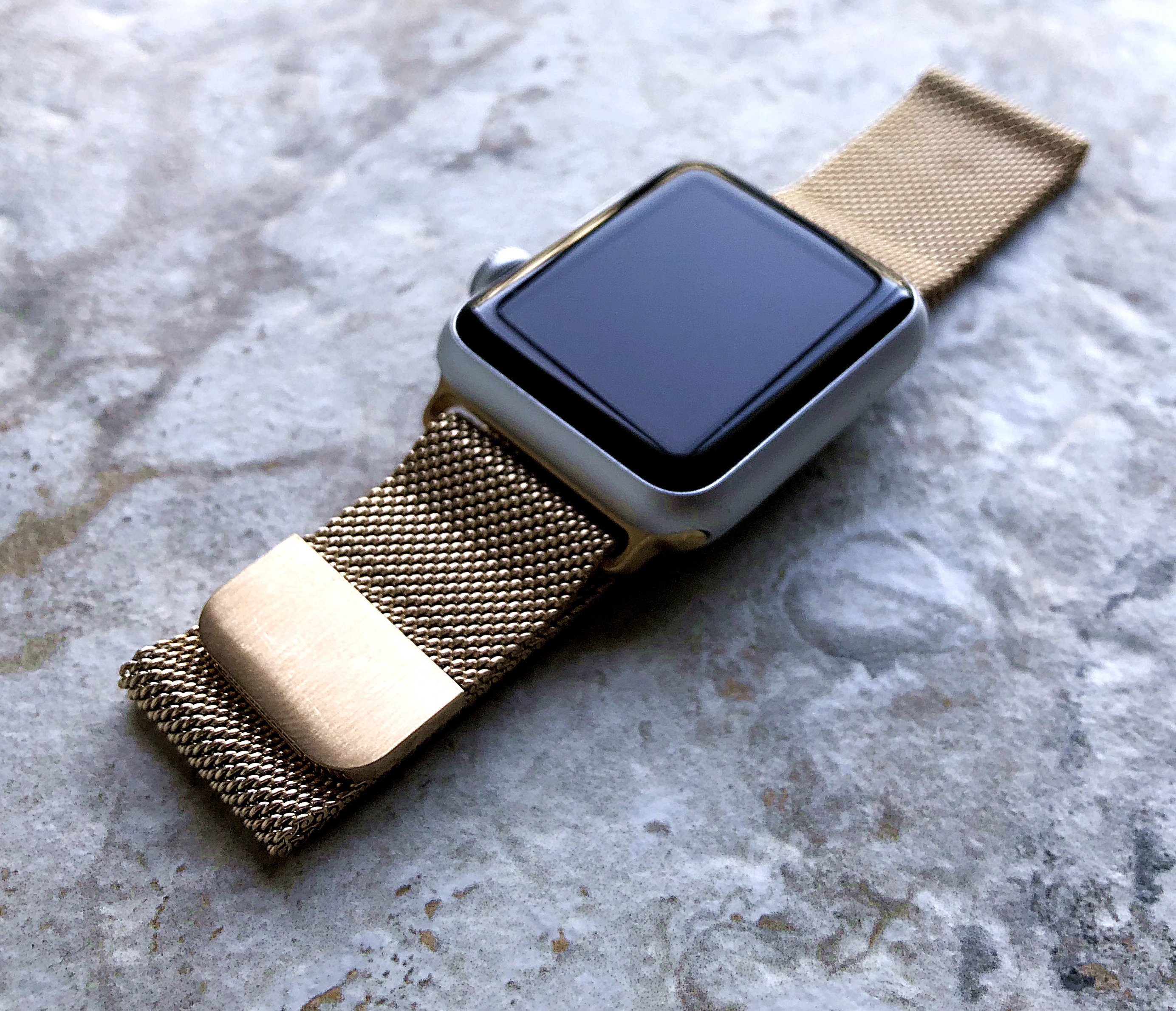 huge inventory uk availability dirt cheap Modern Gold Color Stainless Steel Adjustable Milanese Mesh Band Strap for  Apple iWatch 38 40 42 44mm Watch 5 4 3 2 1 Ser Nike Hermes Edition