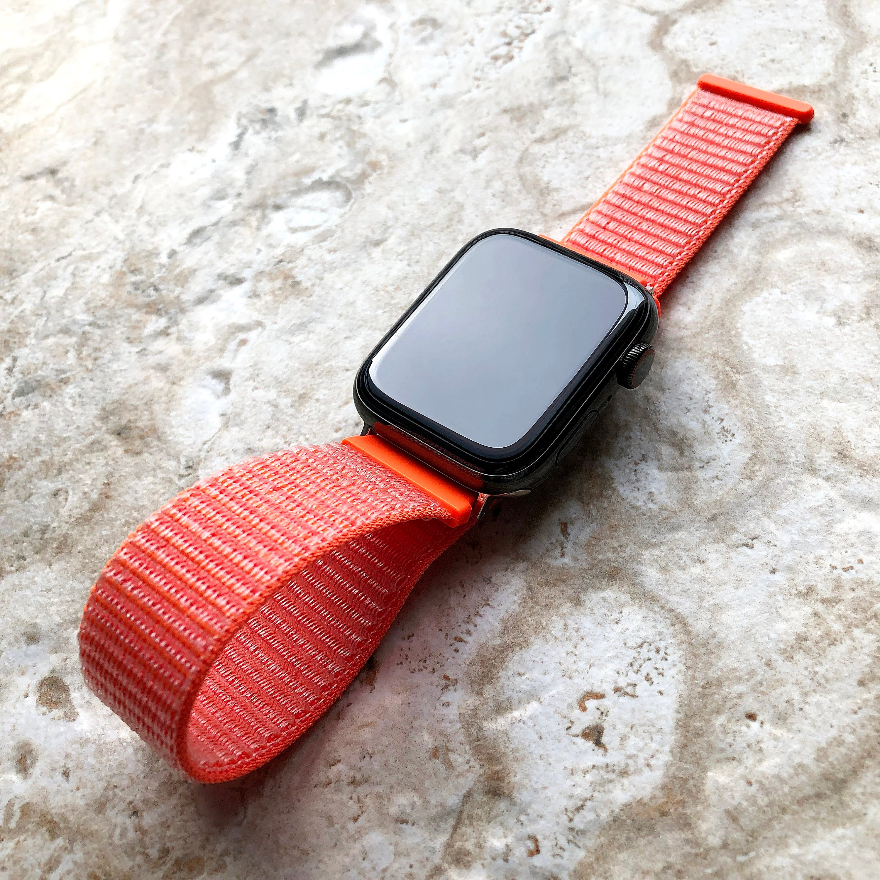 Spicy Orange Loop And Hook Band Strap For Apple Iwatch 38mm 40mm 42mm 44mm Watch 5 4 3 2 1 Series Nike Hermes Silver Black Rose Gold Nickston All Rights Reserved